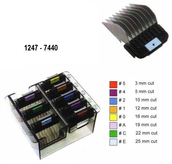 Dodatkowe metalowe grzebienie WAHL 1247-7440 - komplet