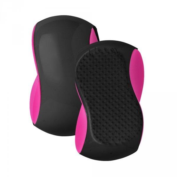 Szczotka do włosów DETANGLER Grip - różowo-czarna 705000