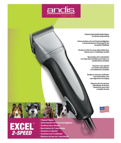 Nożyce Andis Excel 2-biegowe 1