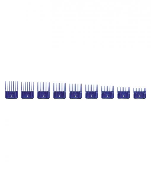 Zestaw plastikowych grzebieni Andis z metalowym klipsem - zestaw I (1,5-14 mm) 1